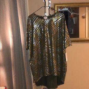Elegant Irma Lularoe M-L gold bronze tones.  BNWT